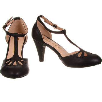 Take the Cake T-Strap Heels in Licorice