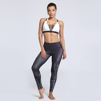Love Spark Plus Size Striped Sports Yoga Pants Elastic Slim Sexy S To 3xl Big Size Womens Workout Pants
