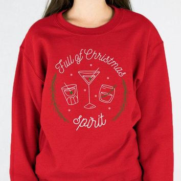 Full of Christmas Spirit Crewneck Sweatshirt