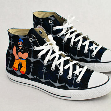 Popeye and Bluto Custom Converse