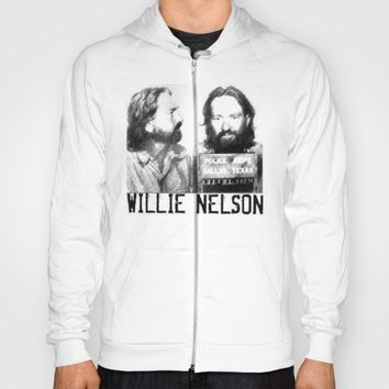 Willie Nelson Mug Shot Hoody by Neon Monsters