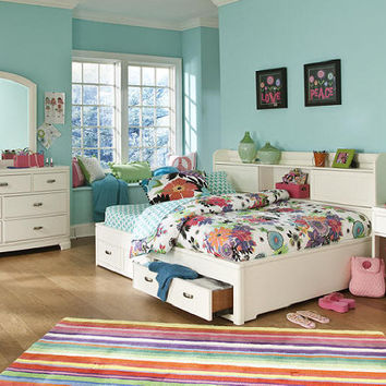 Eva Twin Size Big Bookcase Bed