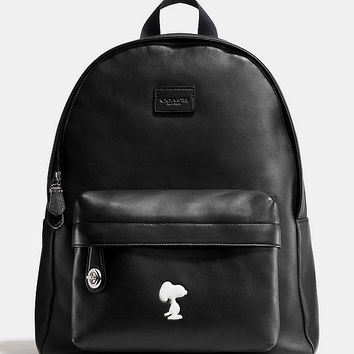COACH X PEANUTS SMALL CAMPUS BACKPACK IN LEATHER | Dillards