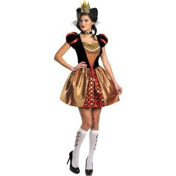 Alice In Wonderland Movie - Sassy Red Queen Adult Costume - Costumes, 800251