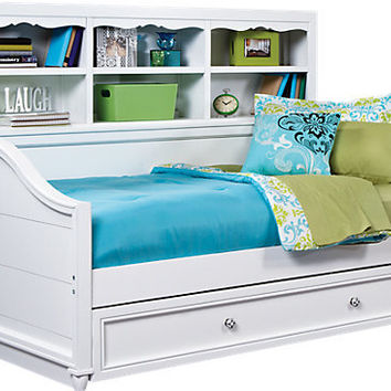 Gabriella Winter White 3 Pc Bookcase Daybed