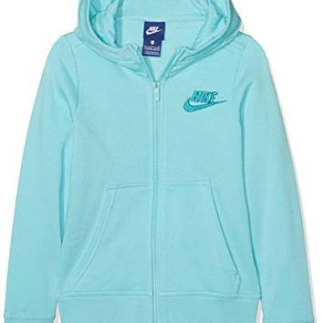Nike Girls' Sportswear Club Cotton Full Zip Hoodie Large