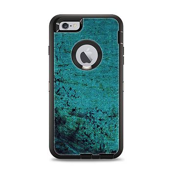 The Grungy Teal Surface Apple iPhone 6 Plus Otterbox Defender Case Skin Set