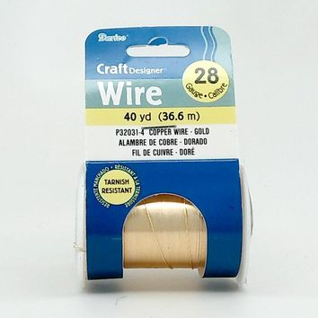 Darice Gold Color 28 Gauge Craft Wire