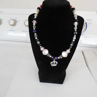 Crown Princess bubblegum necklace chunky necklace toddler necklace girls jewelry