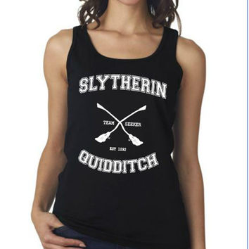Slytherin Quidditch Harry Potter Clothing Women Tank Top T-shirt size S,M,L,XL