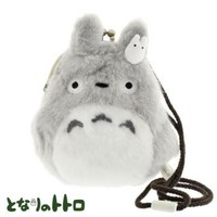 Strapya World : Studio Ghibli My Neighbor Totoro Gamaguchi Fluffy Cell Phone Pouch