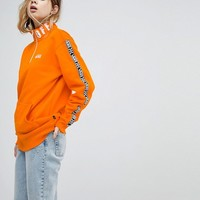 Vans Exclusive To Asos Half Zip Pullover In Orange at asos.com
