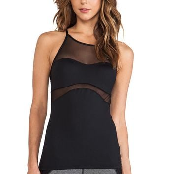 Michi Allegro Tank - Black | Designer Tank Top