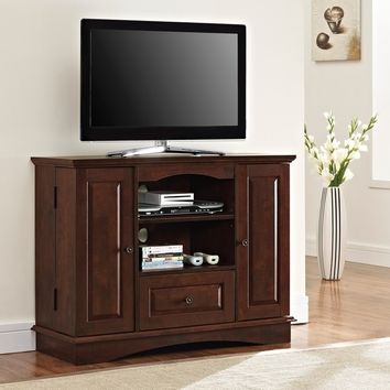 Brown Wood 42-inch Highboy TV Stand | Overstock.com Shopping - The Best Deals on Entertainment Centers