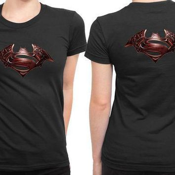 Batman Vs Superman 2 Sided Womens T Shirt