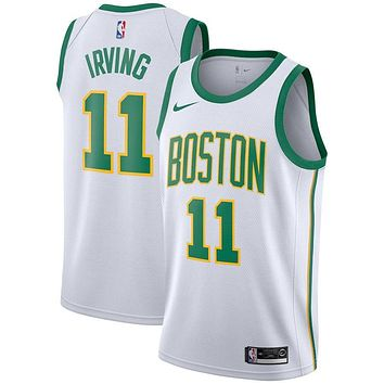Men's Boston Celtics Kyrie Irving Nike White 2018/19 Swingman Jersey ¨C City Edition