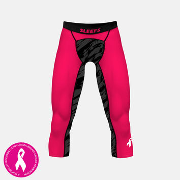 Tryton  Pink Gray 3/4 Tights for men