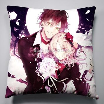 Anime Manga DIABOLIK LOVER  Pillow 40x40cm Pillow Case Cover Seat Bedding Cushion 011
