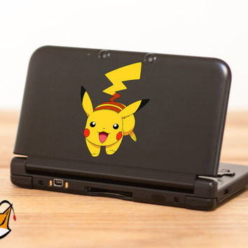 Pikachu Pokemon decal sticker for Nintendo 3DS XL, 3DS, MacBook and all other devices! ma262