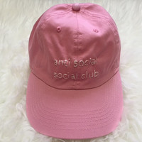 Anti Social Social Club Embroidered Baseball Cap