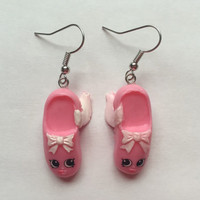 Shopkins Foodie Earrings - Ballet Pointe Shoes - repurposed toys