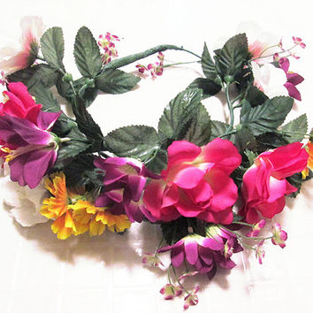 tropical large flower crown