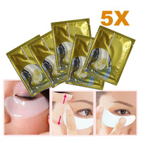 5 x Collagen Crystal Eye Mask Eyelid Patch Moisture Crystal Collagen Eye Mask Crystal Eyelid Patch Anti-Wrinkle