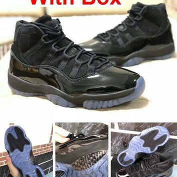 Air Jordan 11s prom night 11 Real carbon fiber Top Quality Gym Red Gamma  blue Midnight 0264407cb2