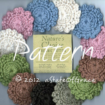 Pattern for Organic Facial Scrubbies - Crochet Pattern - TREASURY Item - INSTANT DOWNLOAD