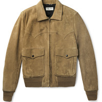 Saint Laurent - Western Suede Flight Jacket | MR PORTER