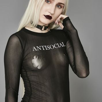 Antisocial Mesh Long Sleeve Tee