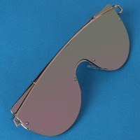 Mirrored Lenses Wire Frame Sunglasses