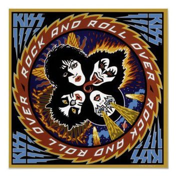 KISS Rock and Roll Poster Print from Zazzle.com