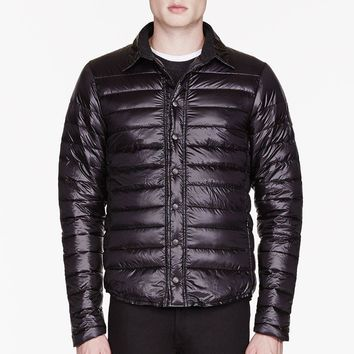 Canada Goose Black Quilted Beaconsfield Shirt Jacket| Best Deal Online