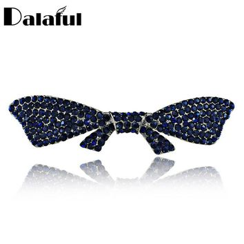 Elegant Bowknot Butterfly Crystal Chic Hair Clip Barrette Hairpin Accessories Hair Jewelry For Woman Wedding F118