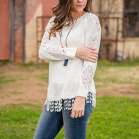 Elegance With Ease Top, Ivory