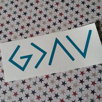 God is Greater Than The Ups and Downs | God is Greater Than The Highs and Lows | Christian Decal | Car Decal | Faith Decal | Inspiration