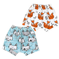 Cute Newborn Clothing Girls Boys Harem Shorts Cartoon Animal Fox Panda Pattern Baby PP Short For Infants Toddler Clothes