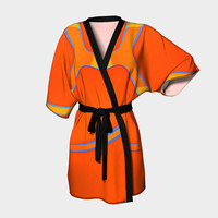 Design: Nothing Rhymes With Orange - Kimono Robe, Bath Robe, Lounge Wear, Robe, Coverup. Swim Coverup, Gift for Her, Gift for Him