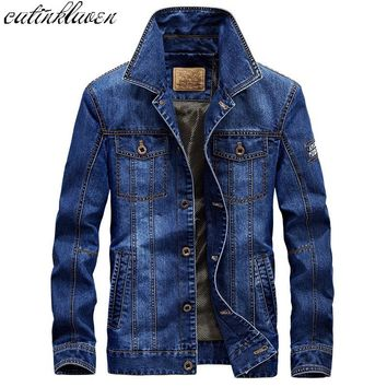 2017 Coat Autumn Winter Fashion Denim Jackets Men Jeans Slim Fit Mens Jackets And Coats Casual Bomber Jacket Men Casual Jacket