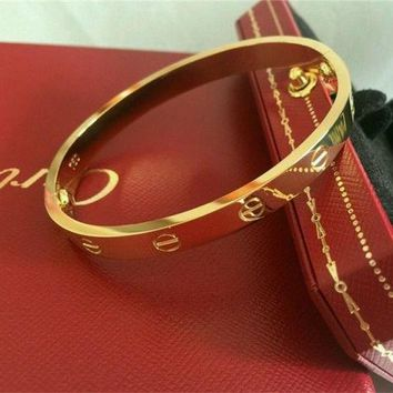Authentic CARTIER Love Bracelet 18K Yellow Gold Size 16 Bangle