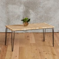 Rattan Nesting Table by Anthropologie in Neutral Size: One Size Furniture