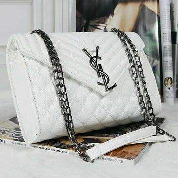 YSL Women Fashion Chain Leather Satchel Shoulder Bag Crossbody