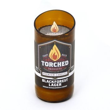 TORCHED BEER BOTTLE CANDLE