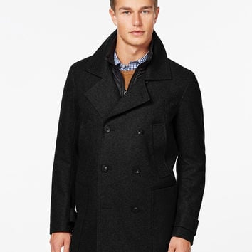 Marc New York Big & Tall Double Breasted Mulberry Coat