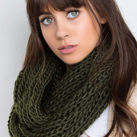Emerson Knit Scarf - Olive