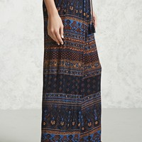 Abstract Print Wide-Leg Pants