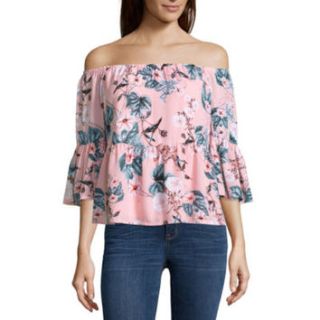 a.n.a Off The Shoulder Peplum Blouse - JCPenney
