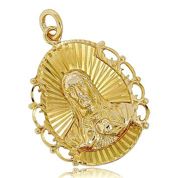 Large 18k SOLID Yellow Gold Jesus Christ Pendant