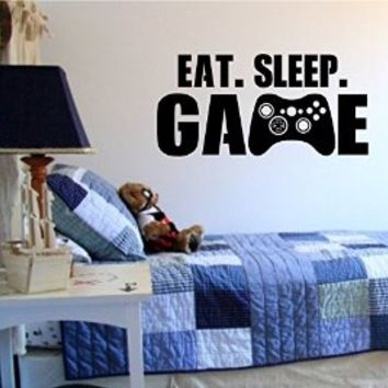 Eat Sleep Game Version 101 Gamer Video Game Decal Sticker Wall Boy Girl Teen Child Sport Fight